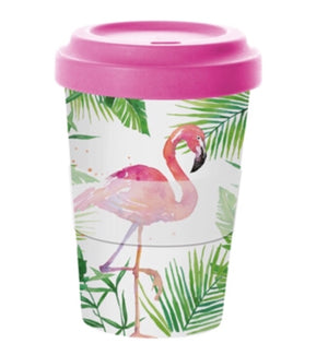 PPD - Bamboo Travel Mug - Tropical Flamingo
