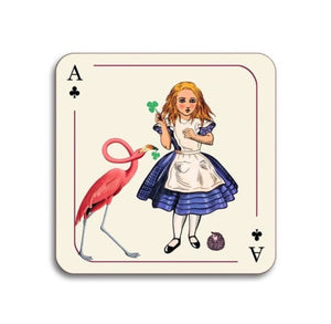 Avenida Home - Alice In Wonderland - Alice and Flamingo Coaster