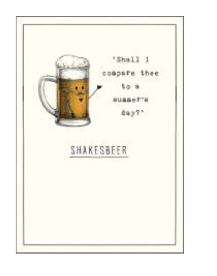 Etched Card Shskesbeer