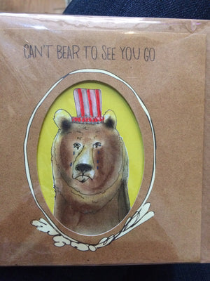 Card can't bear to see you go
