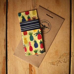 The Beeswax Wrap Co. - Cheese Pack - Pineapple Print