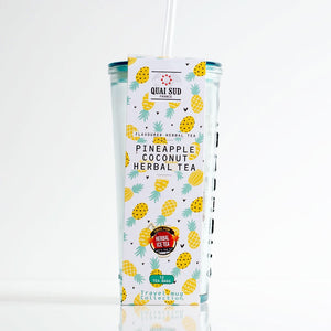 Quai Sud - Ice Tea - Pineapple and Coconut in Recycled Travel Glass