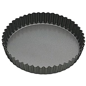 MasterClass - Non-Stick 25cm Loose Base Fluted Quiche Tin