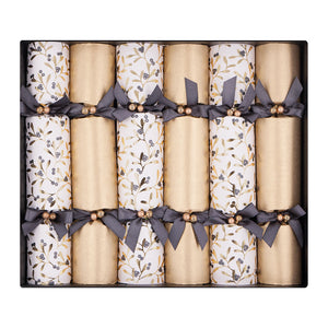 Celebration Crackers - Golden Mistletoe Pack of 6