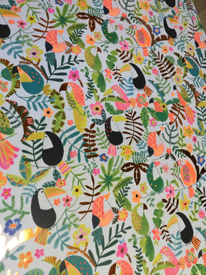 Tropical rainforest wrapping, single sheets