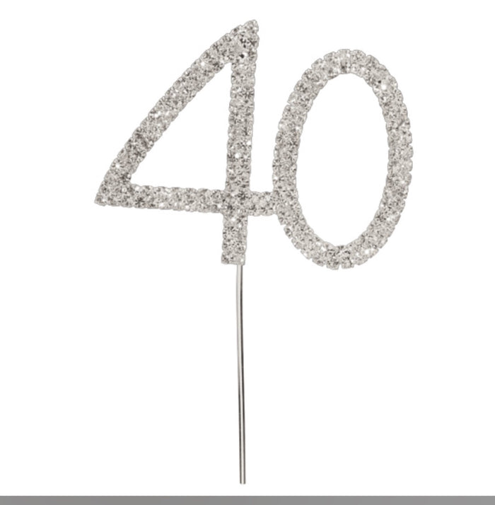 Diamanté 40th on Stem