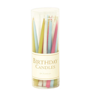Birthday Candles set of 20 pastels