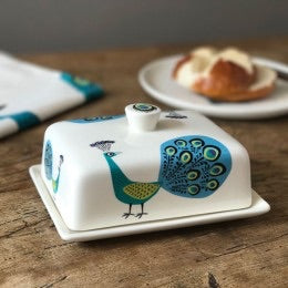 Hannah Turner - Peacock Butter Dish