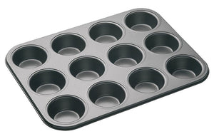 MasterClass - Non-Stick 12 Hole Deep Baking Pan
