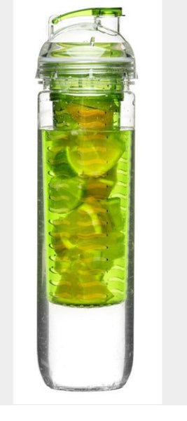 Fresh bottle with fruit piston-Green