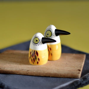 Hannah Turner - Bird Salt And Pepper Shakers Yellow