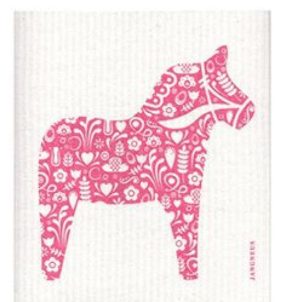 Dishcloth-Pink Horse