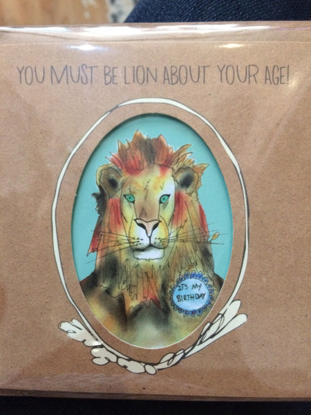 Card you must be lion about your age