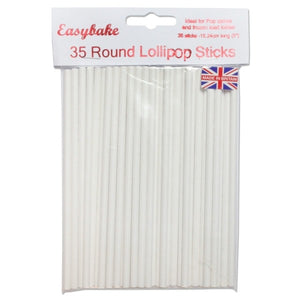 NJ Products - 35 Rounded Lollipop Sticks