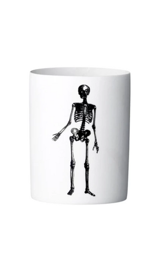 Bloomingville - Ceramic Skeleton Tea Light Holder