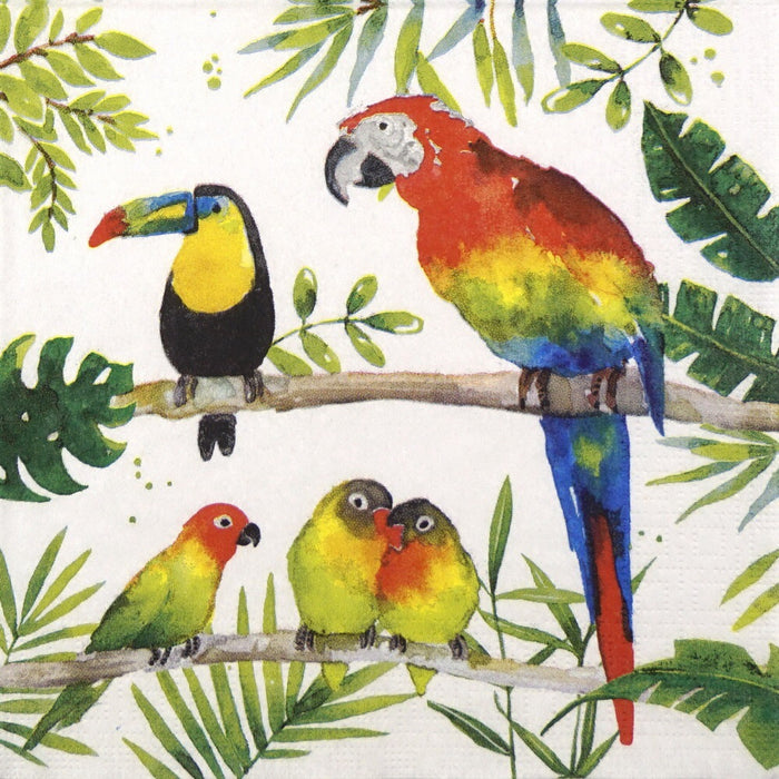 PPD - Napkin Tropical Birds