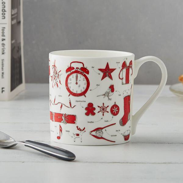 Christmas Delights Bond China Mug