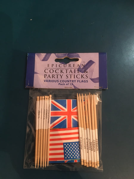 Cocktail & party sticks various Country flags