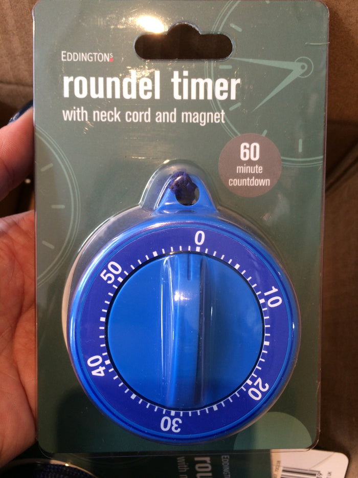 Roundel timer with neck cord and magnet 60 minute countdown
