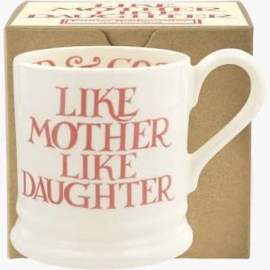 Emma Bridgewater - Pink Toast - Like Mother Like Daughter 1/2 Pint Mug Boxed