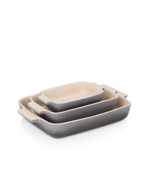 Le Creuset - BLACK FRIDAY - Stoneware set of 3 Dishes- Flint