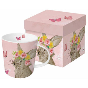 PPD - Gift Set Of Easter Bunny Ceramic Mug & Napkins