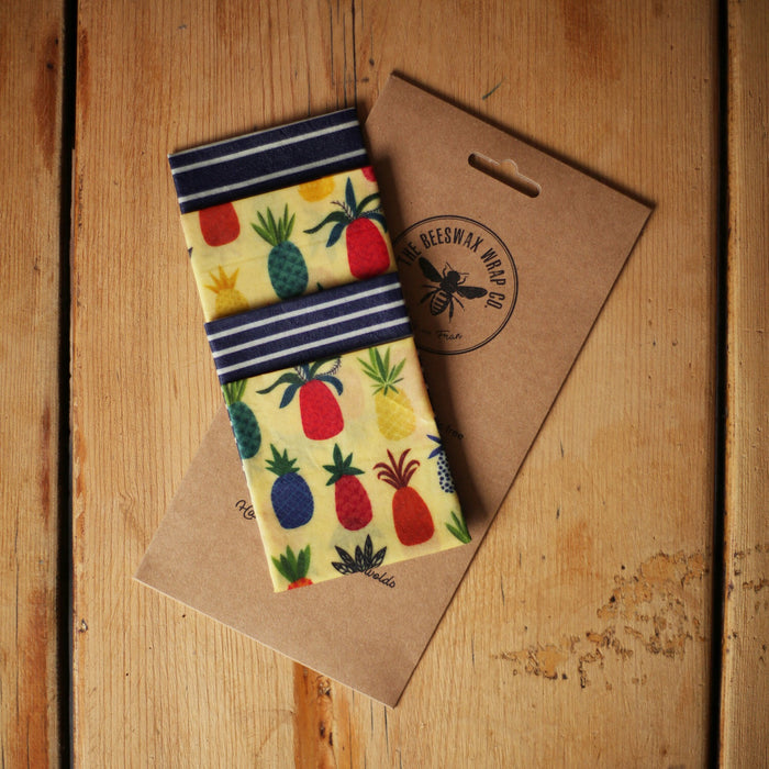 The Beeswax Wrap Co. - Lunch Pack - Pineapple Print