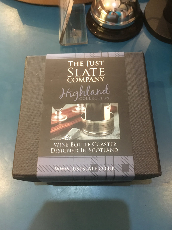 Highland collection wine bottle coaster