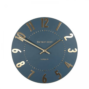 "Thomas Kent 12"" Mulberry Midnight Blue Wall Clock"