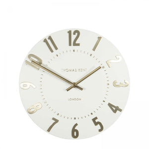 "Thomas Kent 12"" Mulberry Ivory Champagne Wall Clock"