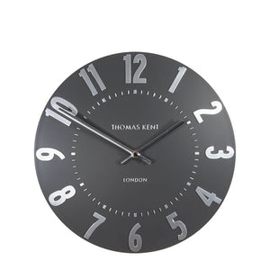 "Thomas Kent 20"" Mulberry Graphite/Silver Wall Clock"