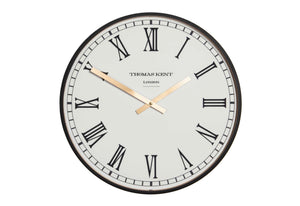 "Thomas Kent 30"" Clocksmith Black Large Wall Clock"