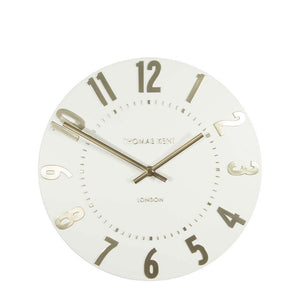 "Thomas Kent 20"" Mulberry Ivory Champagne Wall Clock"