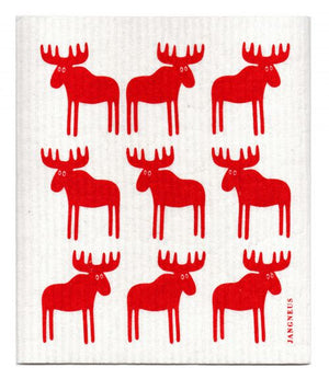 Jangneus - Red Moose Dishcloth