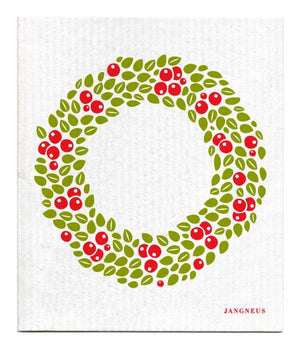 Jangneus - Red Wreath Dishcloth