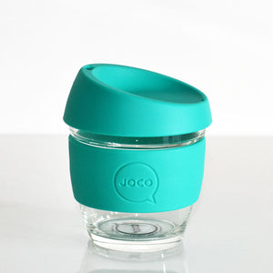 Joco - 8oz Glass Coffee Cup - Mint