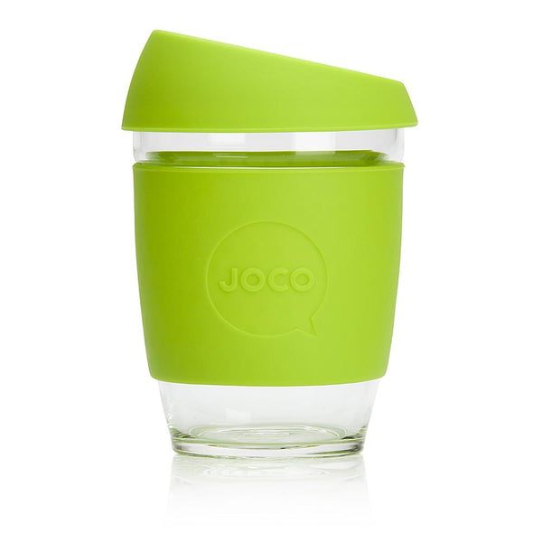 12oz Joco Glass Coffee Cup in Lime