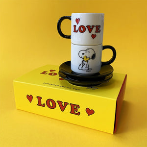 Peanuts - Espresso set of 2 - Love