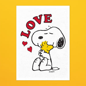 Peanuts - Cotton Tea Towel - Love