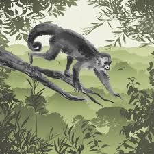 PPD - Green Monkey in Tree Luncheon Napkin
