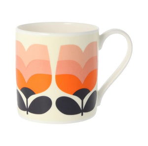 Mclaggan Smith - Orla Kiely Tonal Striped Tulip Mug, Poppy