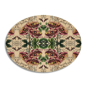 Avenida - Poppy Oval Table Mat 38 x 29cms