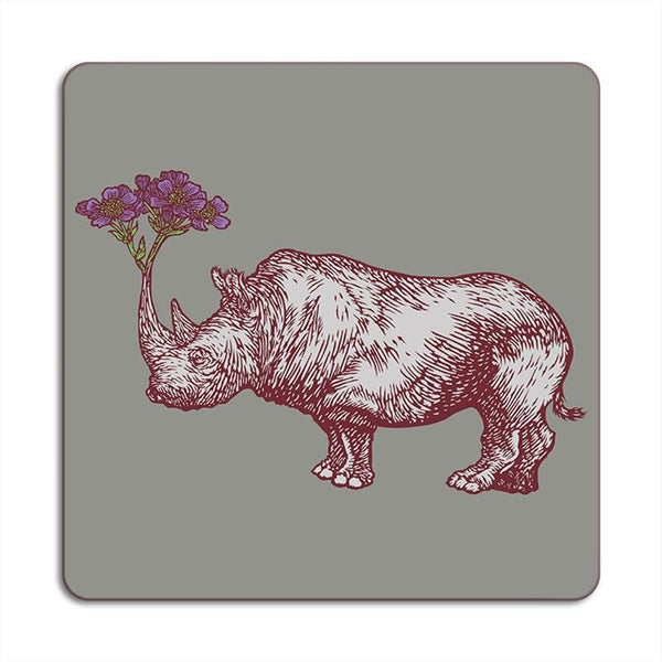 Rhino Animaux Square Placemats
