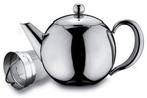 Grunwerg Cafe Ole Rondeo Stainless Steel Teapot with Infuser 1.5 litre