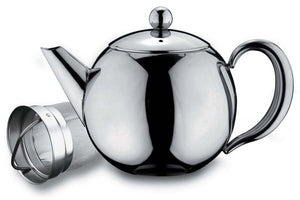 Grunwerg Cafe Ole Rondeo 18/10 Stainless Steel Teapot - 1.0 litre