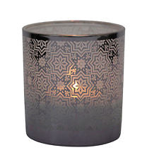 Tradestock - Glass Candle holder - Cordoba - 8cm