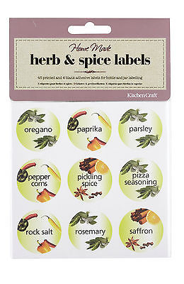 Home Made - Pack of 45 Herb & Spice Bottle Labels
