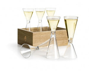 Sagaform - Set of 6 Schnapps Glasses in Storage Box