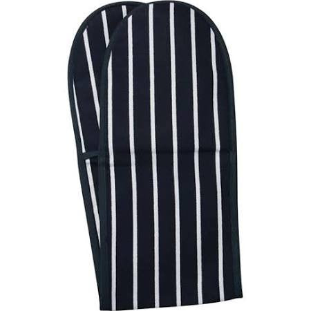 Double Oven Glove - Butcher Stripe Blue