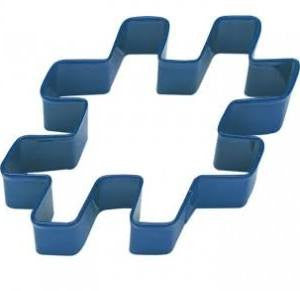 Anniversary House - Hashtag Cookie Cutter - Blue